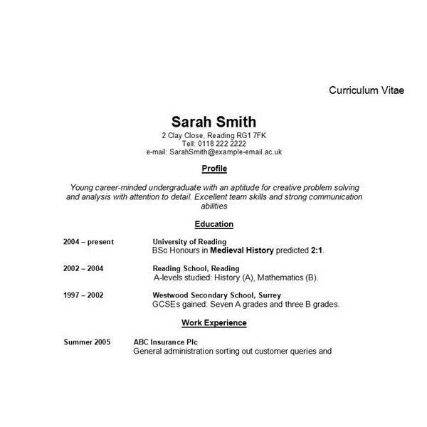 resume example for high school student with Resume for Teens With ...