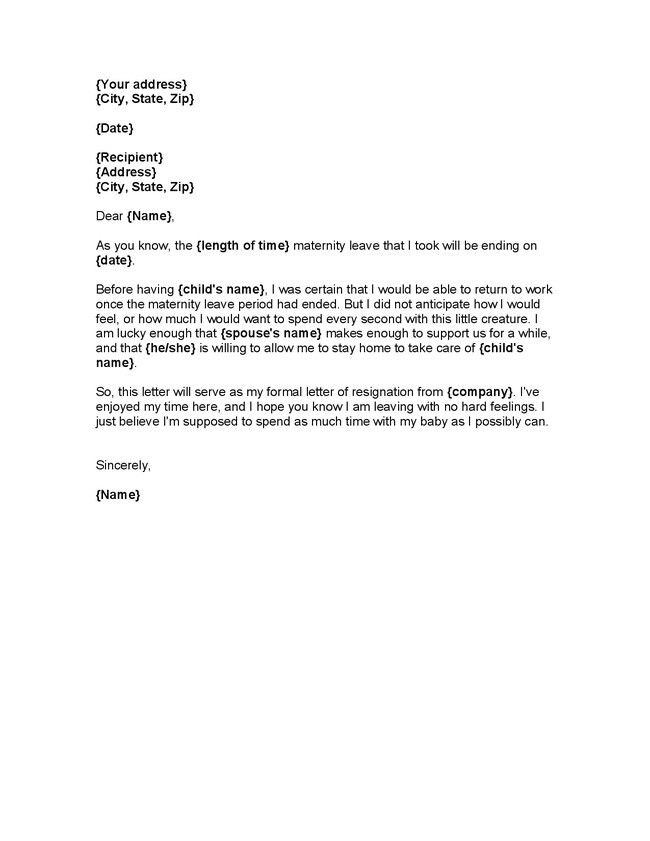 Leave of absence template leave of absence letter sample formal maternity leave letter to employer template the letter sample pronofoot35fo Images