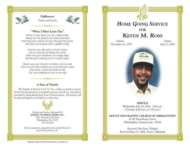 Memorial Program Templates Free   Formats.csat.co