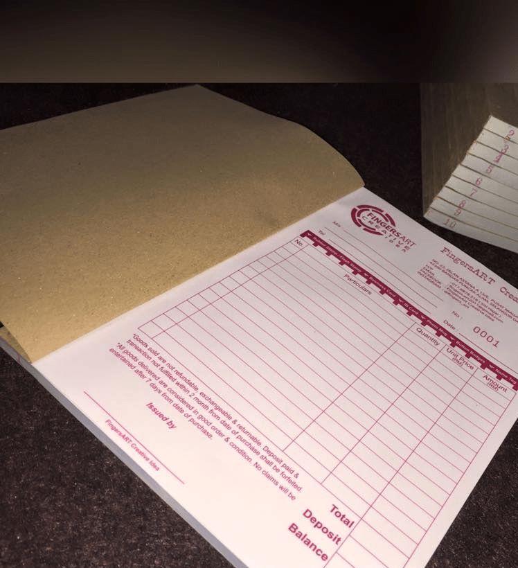 Cash Receipt book printing | Whizz Prints