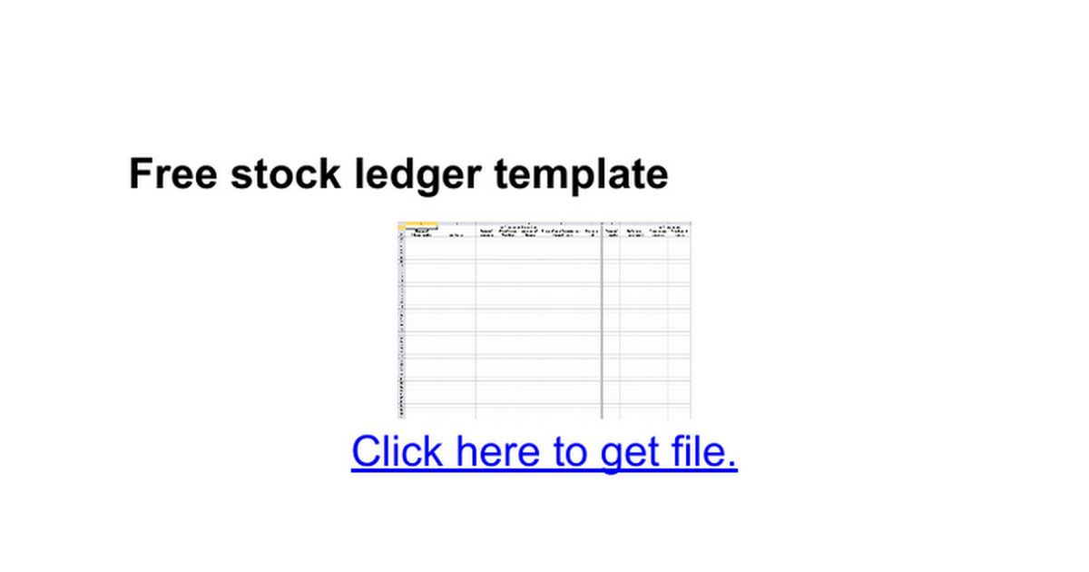 free ledger template