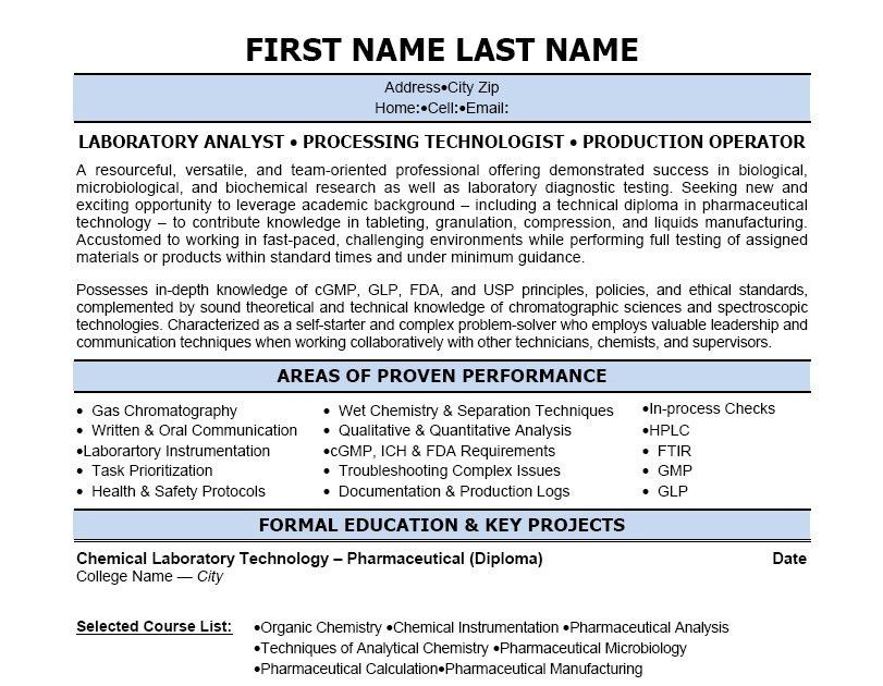 Click Here to Download this Lab Technician Resume Template! http ...