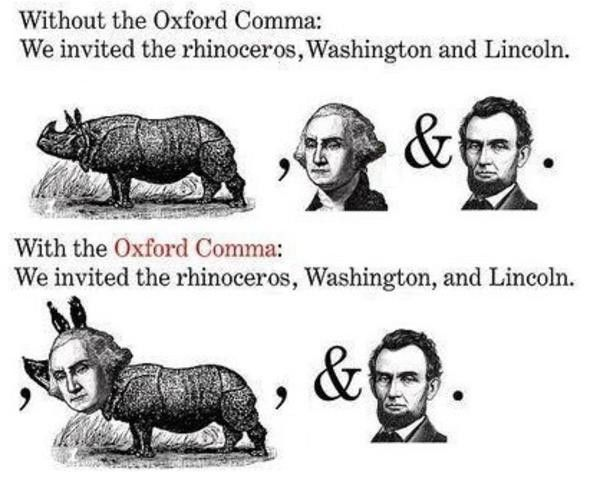 Time to settle this once and for all: the oxford comma - do you ...