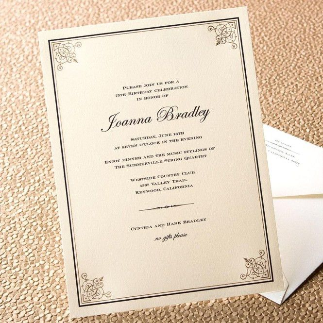 Sample Invitation Letter For Birthday Party In German - Wedding ...