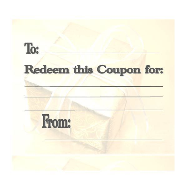 Make Your Own Customizable Coupon Book: Free Printables