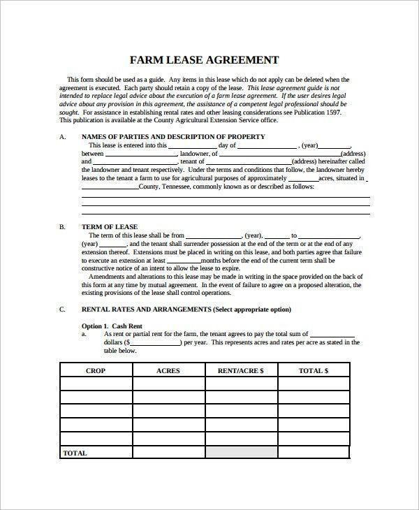 Land Lease Agreement Template Free Land Lease Agreement – Sample Land Lease Agreement