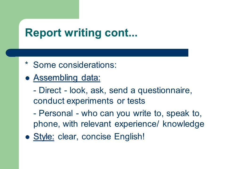 Report Writing. - ppt video online download