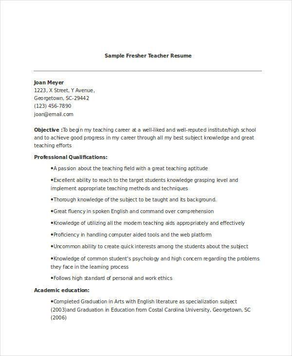 13+ Fresher Resume Templates in Word | Free & Premium Templates