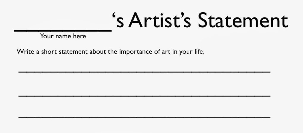 The Artist Statement & Why They Mostly Suck – BmoreArt   Baltimore ...
