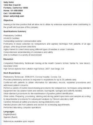 Resume For Phlebotomist With Experience. 22 best resume images on ...