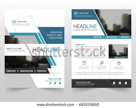 Blue Abstract Circle Annual Report Brochure Stock Vector 538388338 ...