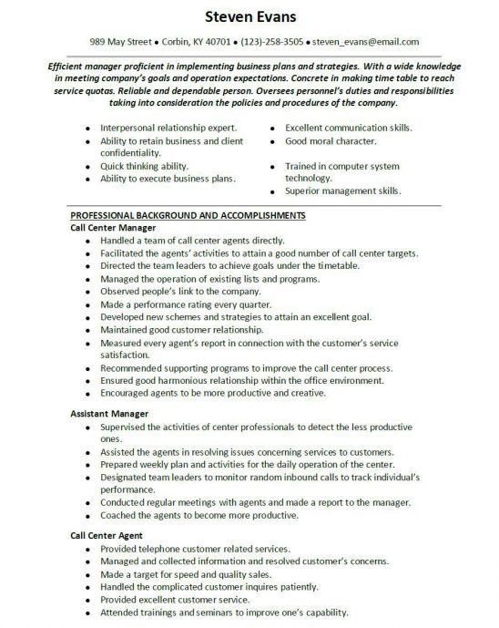 Supervisor Resume Templates, leadership skills resume examples ...