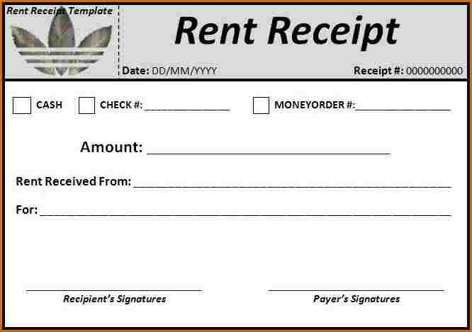 6+ rent receipt template word | Authorizationletters.org