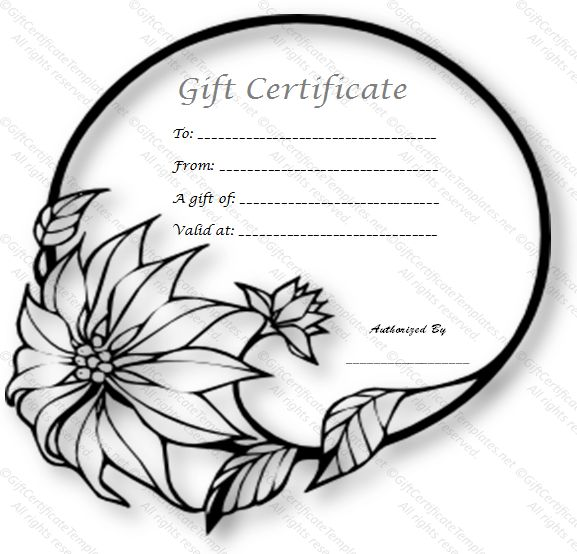 Wedding ring gift certificate template - Free Gift Cards