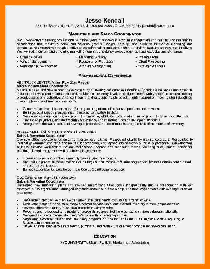 4+ marketing coordinator resume | teller resume