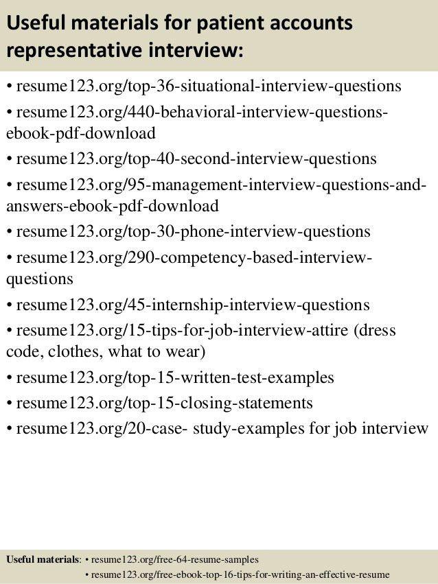 Job Description For Patient Service Representative | Resume For ...