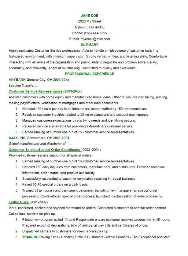 Providing References With Resume. retail sales associate resume ...