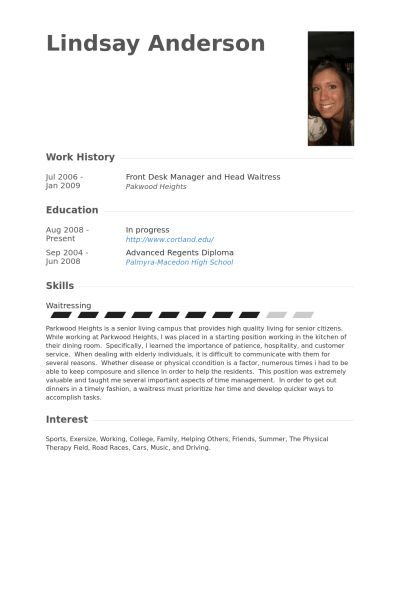 Front Desk Manager Resume samples - VisualCV resume samples database