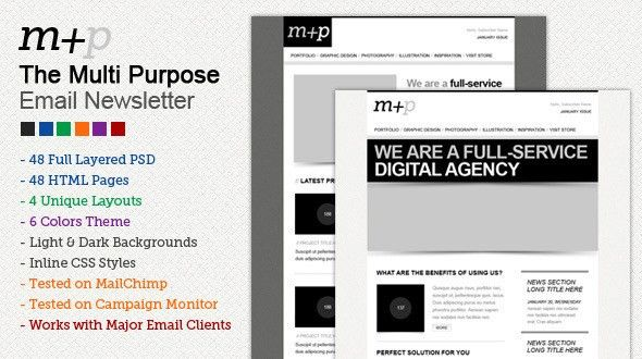 The Multi Purpose HTML Email Template (48 HTMLS) by berber ...