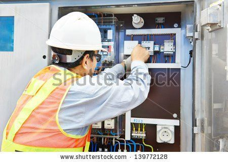 One Chinese Electrician Builder Work High Stock Photo 139772128 ...