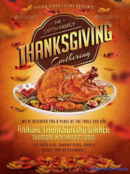 Thanksgiving Luncheon Flyer Templates – Happy Thanksgiving