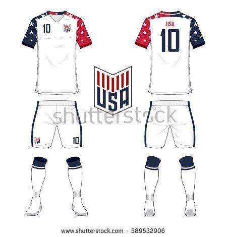 Set Soccer Jersey Football Kit Template Stock Vector 563051080 ...