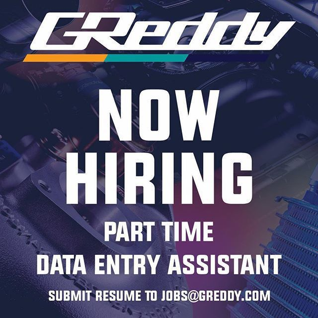 GReddy is hiring! Send your resume to jobs@greddy.com to apply for ...