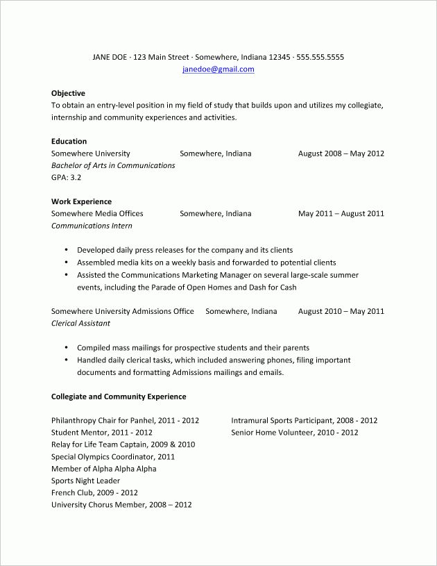 objective for college resume resume objective student college how ...