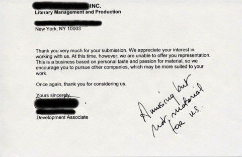 Resumes from Hell - Rejection Letters from Book Agents - for our ...
