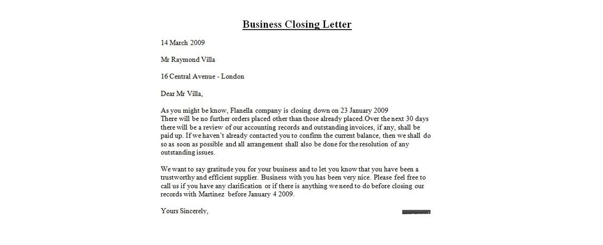 Business Letter Closing Lines | articleezinedirectory
