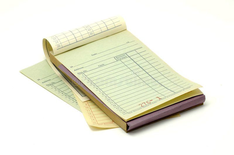Receipt Book Royalty Free Stock Photo - Image: 565135