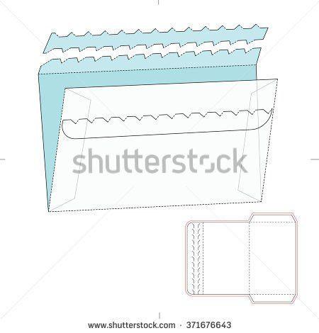 Tuck Lock Envelope Die Cut Template Stock Vector 370908659 ...