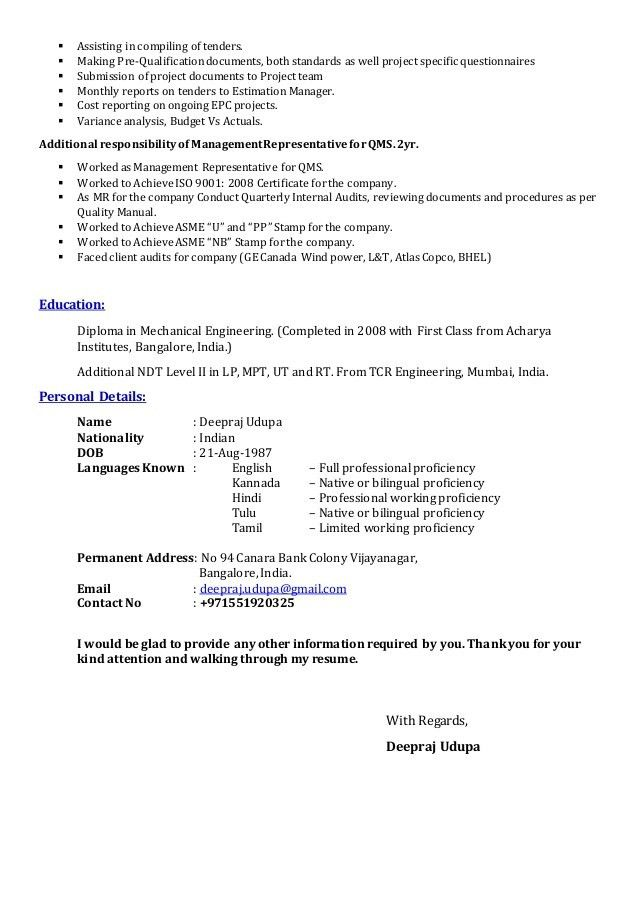 how to compile a resumes