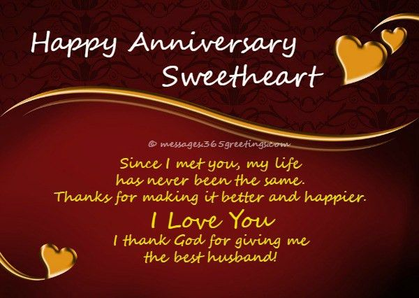 Anniversary Wishes For Husband - 365greetings.com