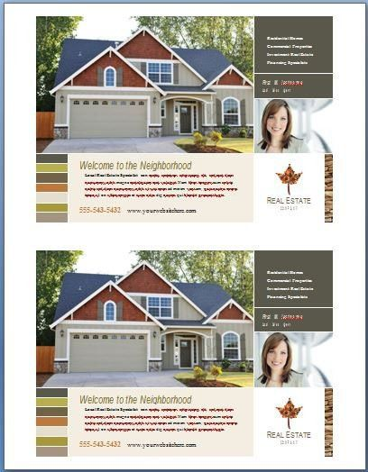 Real Estate Flyer Template Word   Template Design