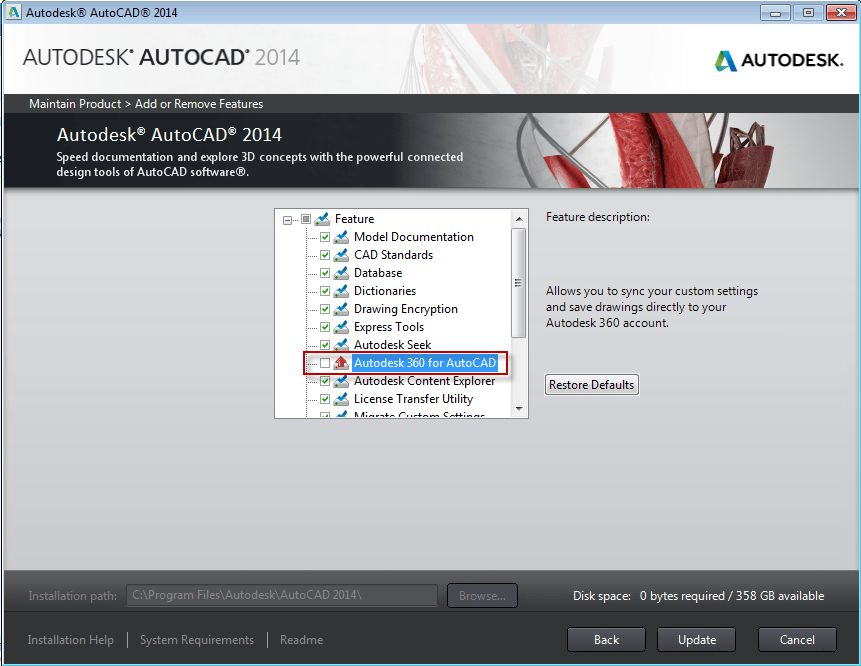 AutoCAD - How to Remove Autodesk 360 - IMAGINiT Technologies ...
