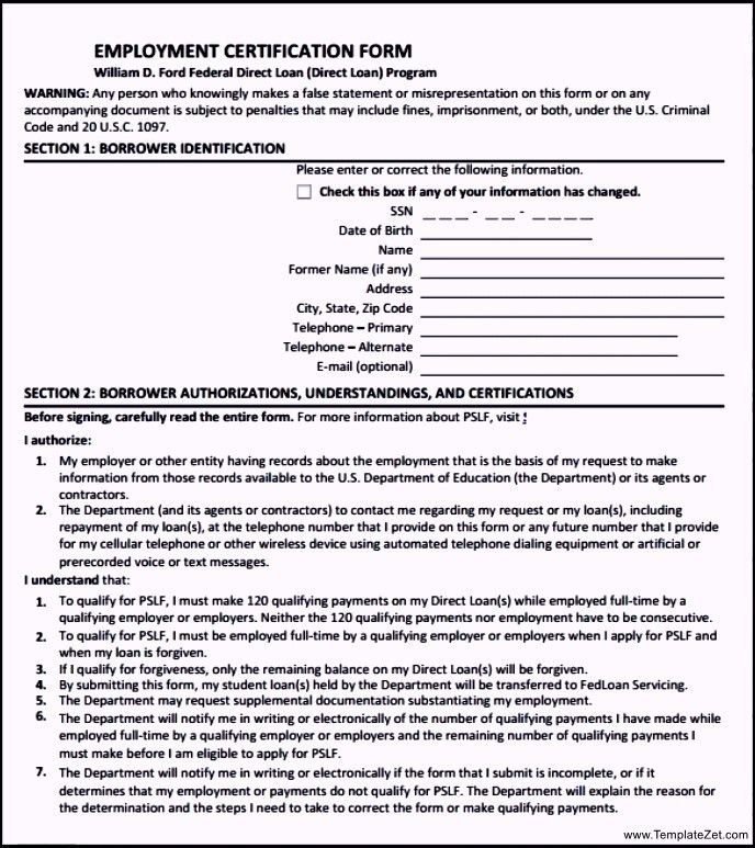 Employment Separation Certificate | TemplateZet