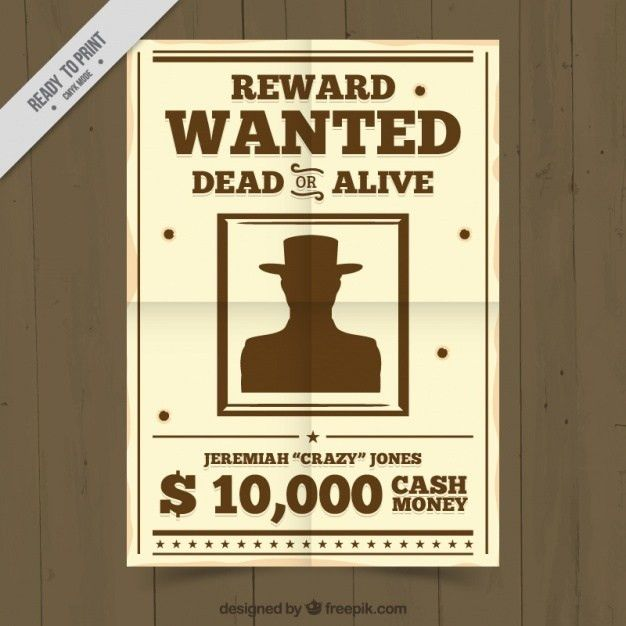 Criminal wanted poster Vector | Free Download