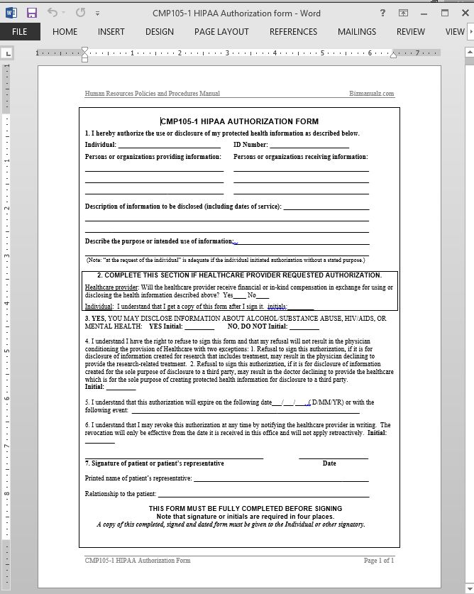 Hipaa Policies And Procedures Templates | Template Design