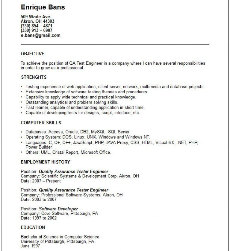 Qa Engineer Resume. qa analyst resume contegri com. quality ...