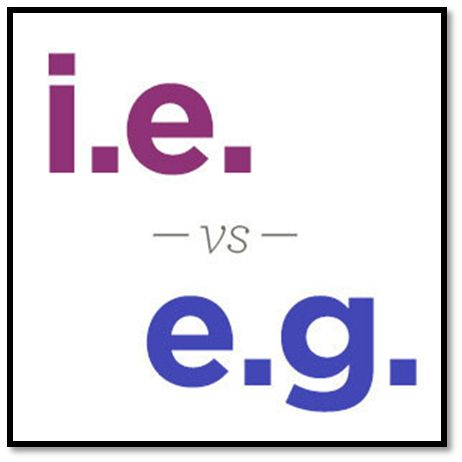 I.e. v/s E.g.: Do you know the difference? - eAge Tutor