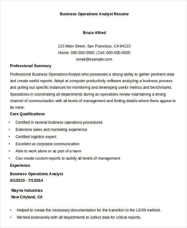 Basic Business Resume Templates - 24+ Free Word, PDF Documents ...