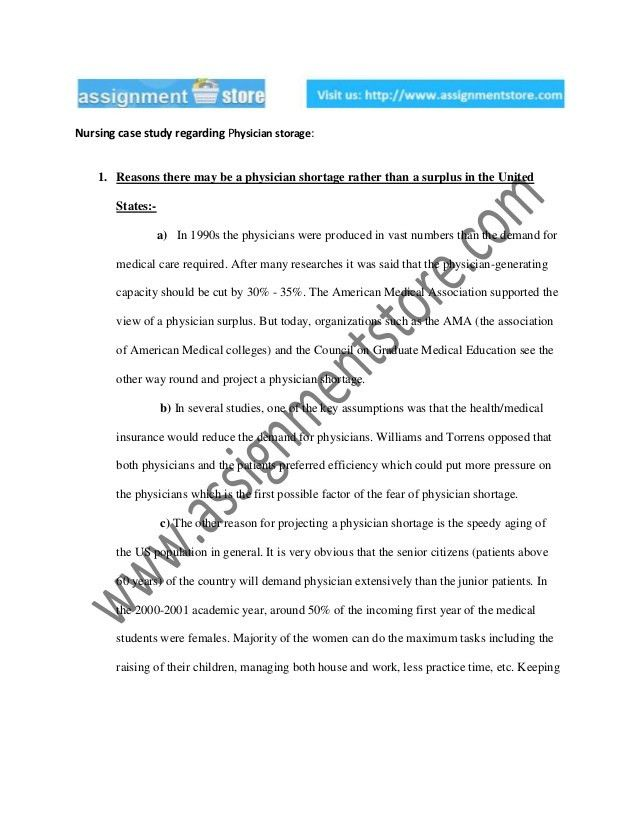 Case study writing assignment