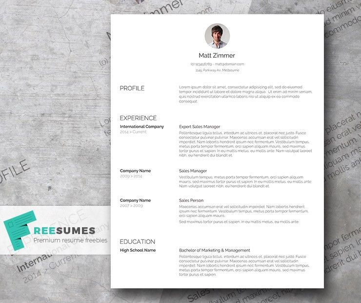 Spick and Span – A Clean Resume Template Freebie