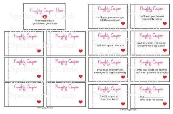 naughty coupon book sexy coupons last minute gift for