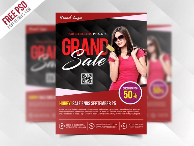 Grand Sale Flyer Template Free PSD | PSDFreebies.com