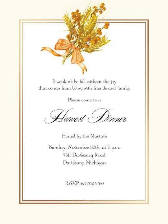 Thanksgiving Invitations
