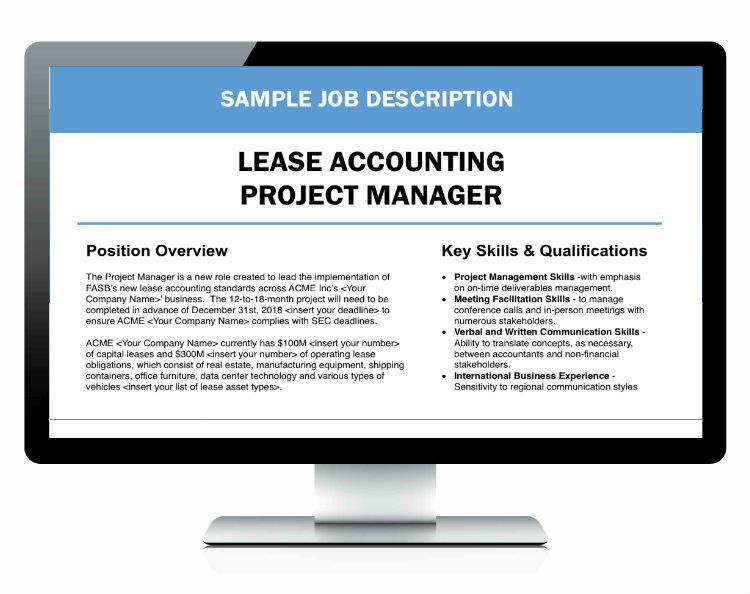 Lease Accounting Project Manager - Sample Job Description ...