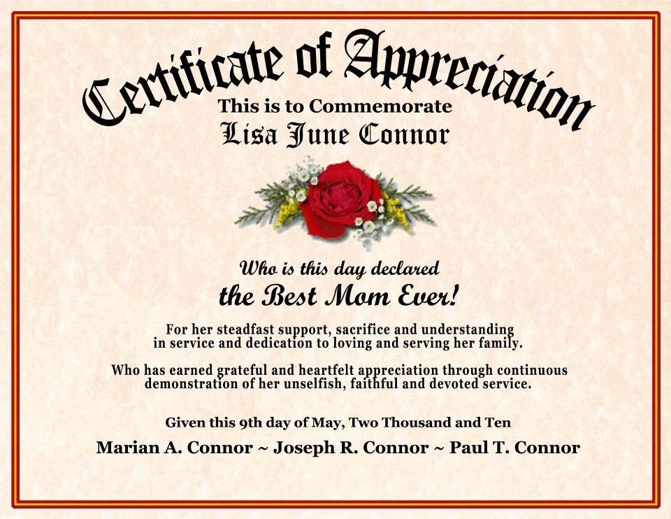 10 Best Images of Church Certificate Of Appreciation - Religious ...