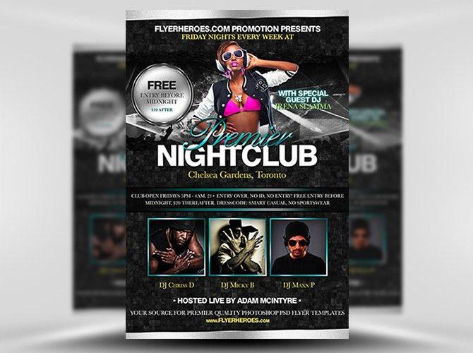 Premier Free Nightclub Flyer Template
